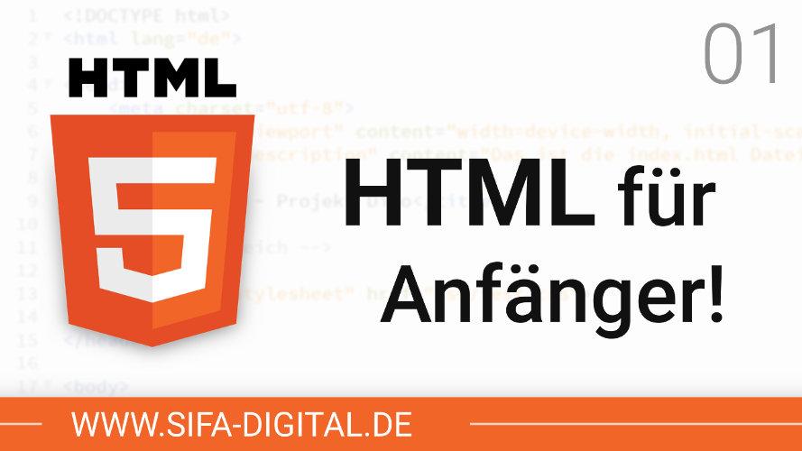 HTML lernen für Anfänger