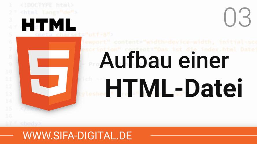 Aufbau einer HTML-Datei