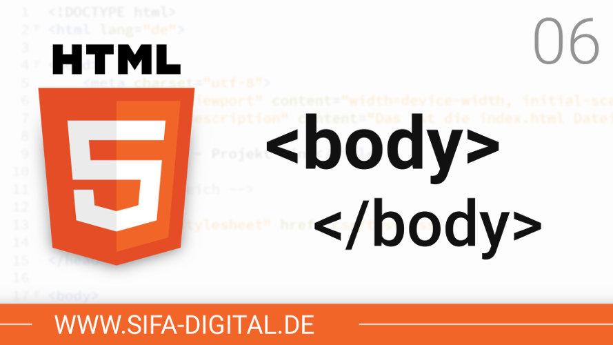 Der Body einer HTML-Datei