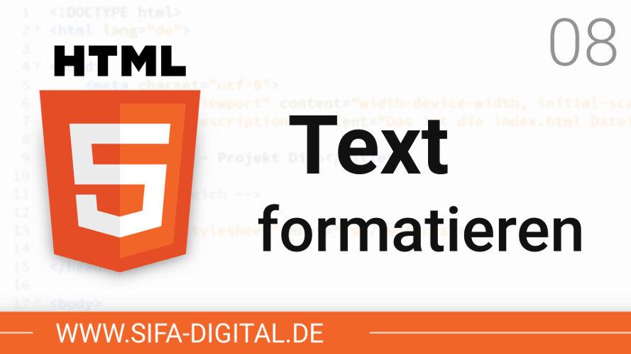 Text formatieren