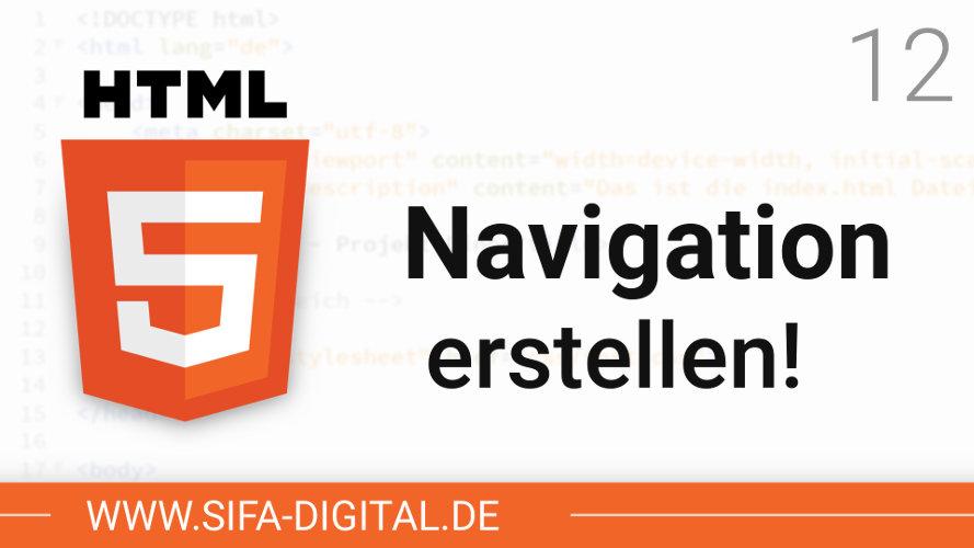 Navigation erstellen