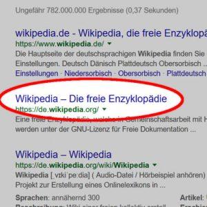 Titel-Tag bei Google