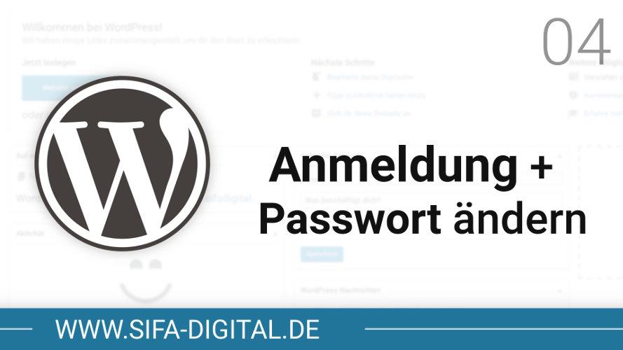 Anmeldung und Passwort ändern