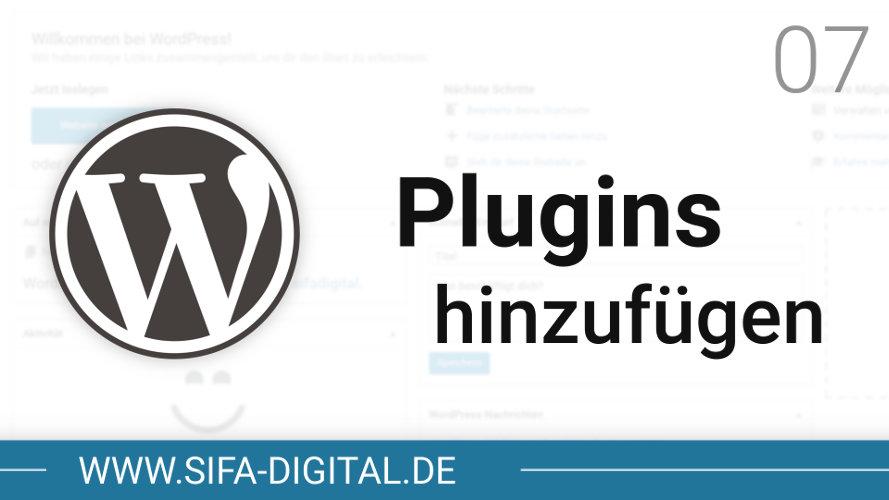 WordPress Plugins hinzufügen