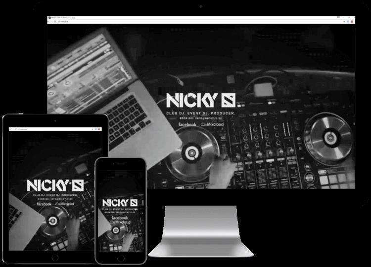 Mockup Nicky S Webseite