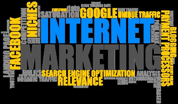 Online-Marketing Buchstaben Grafik
