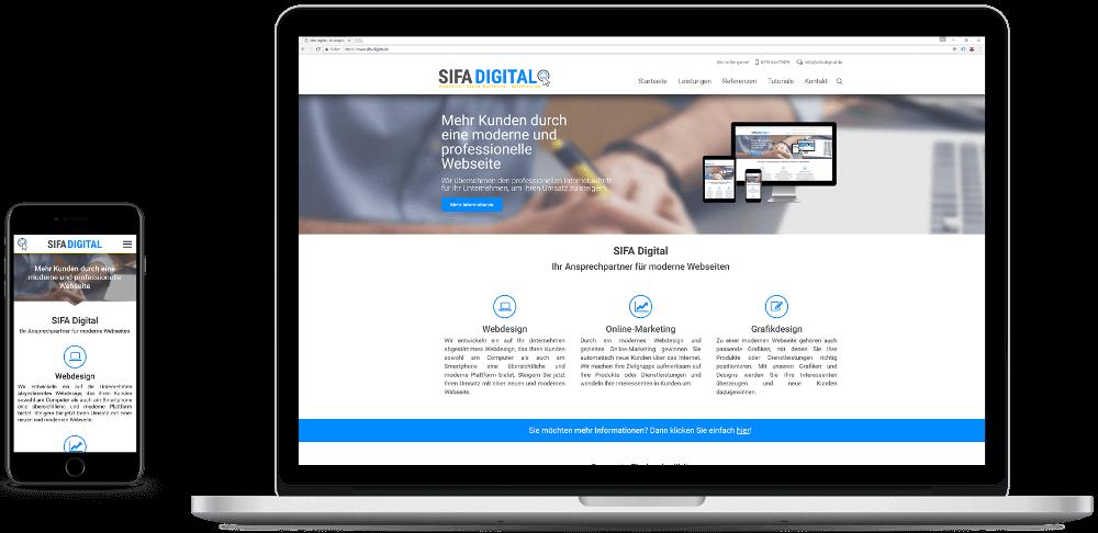 SIFA Digital Webseite