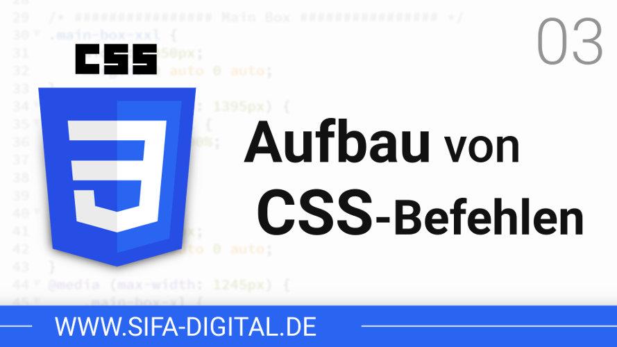 Aufbau von CSS-Befehlen
