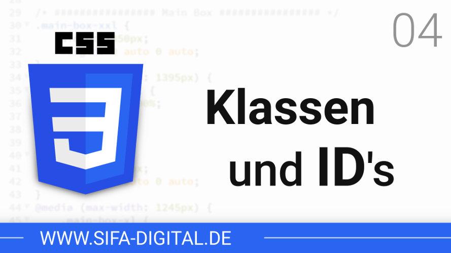 Klassen und ID's im CSS!