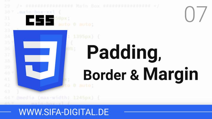 Padding, Border & Margin