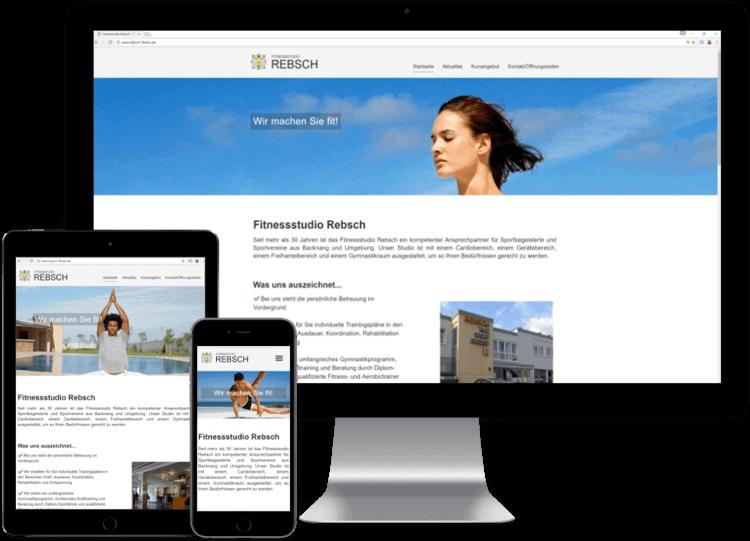 Mockup Rebsch Webseite