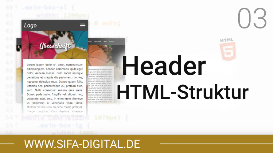 Responsive Webdesign: Header HTML-Struktur erstellen