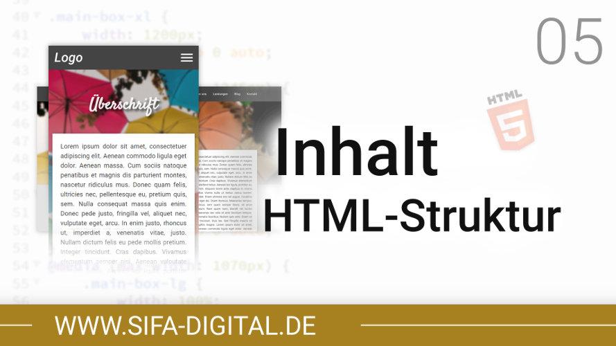 Responsive Webdesign: Inhalt HTML-Struktur erstellen