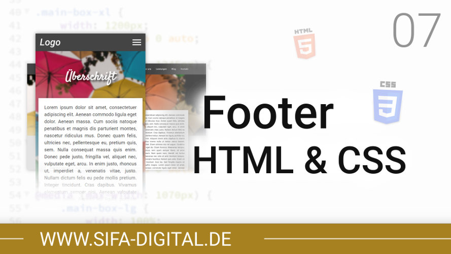 Responsive Webdesign: Footer HTML & CSS