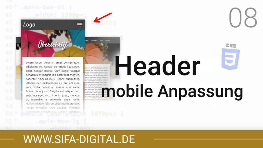 Responsive Webdesign: Header mobile Anpassung