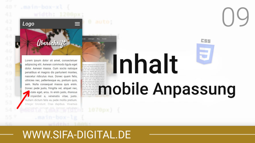 Responsive Webdesign: Inhalt & Footer mobile Anpassung