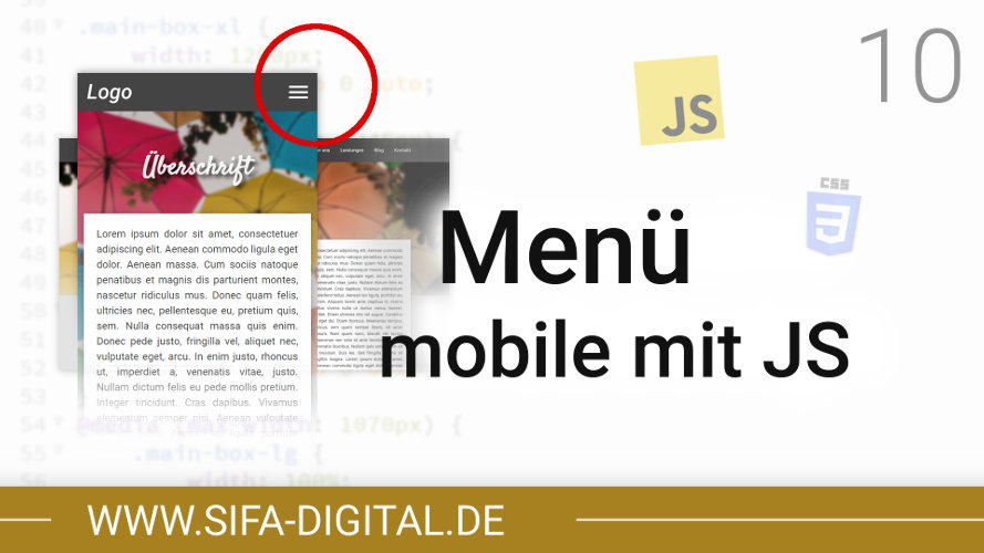 Responsive Webdesign: Mobiles Menü mit JavaScript