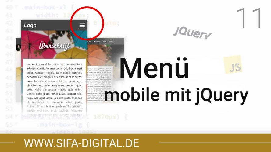 Responsive Webdesign: Mobiles Menü mit jQuery